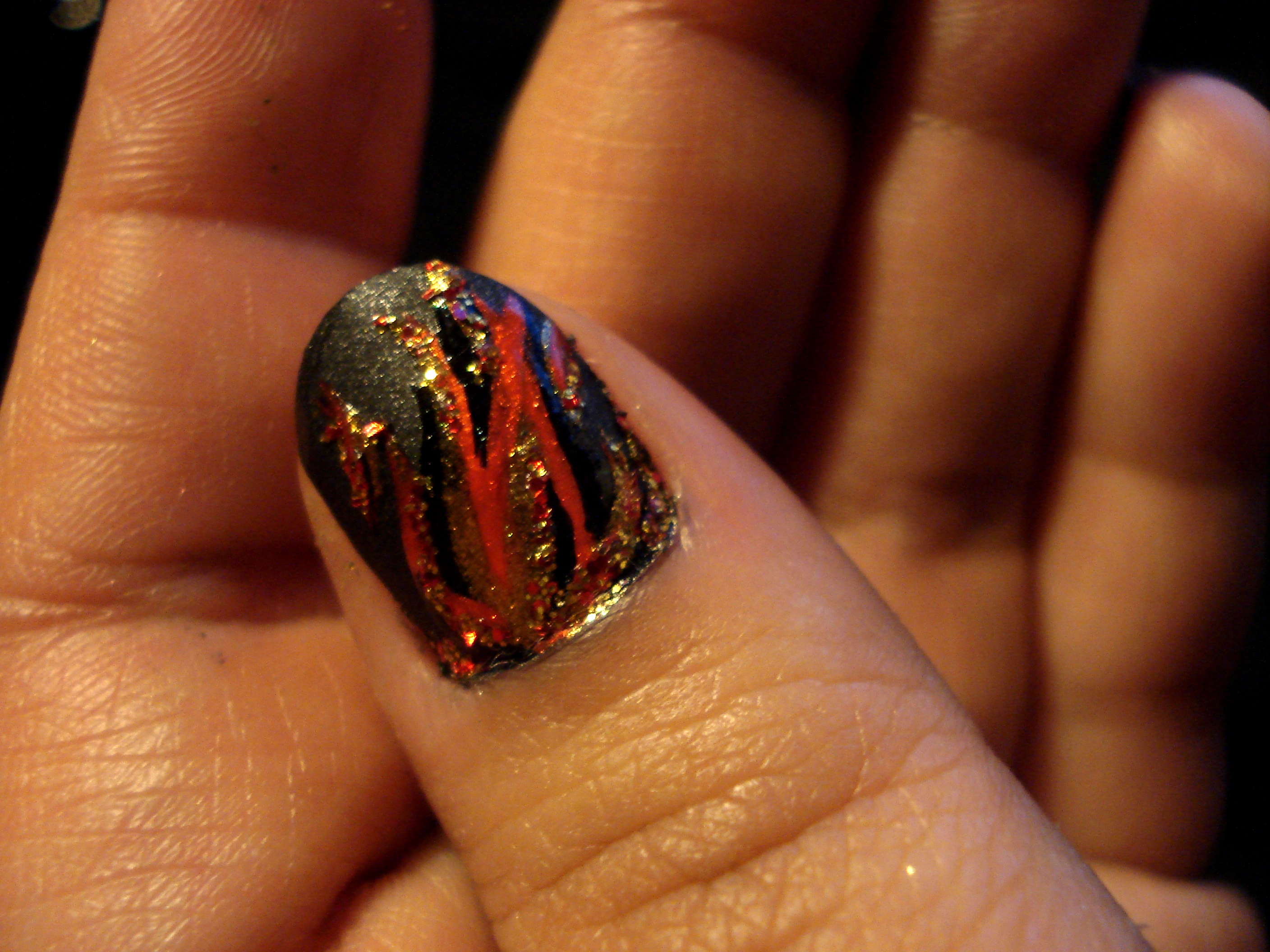 Nails On Fire The Hunger Games China Glaze Capitol Colours
