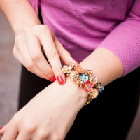 HOTHOUSE FLOWERS DRAMA STRETCH BRACELET 2