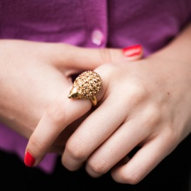 PAVÉ HEDGEHOG RING 2