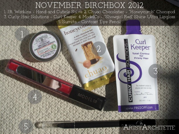 ArtsyArchitette November Birchbox 2012 1