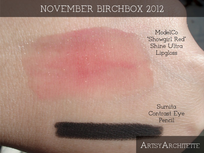 ArtsyArchitette November Birchbox 2012 Swatches