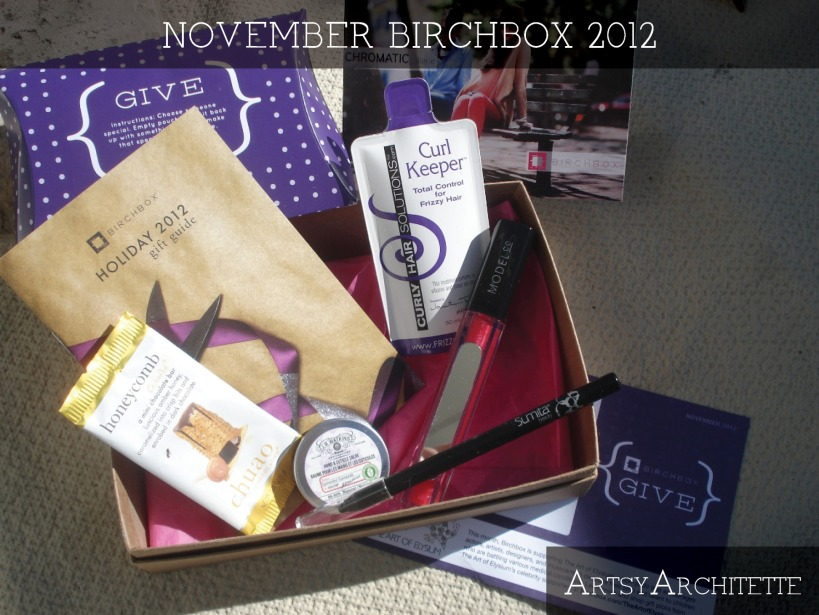 ArtsyArchitette November Birchbox 2012