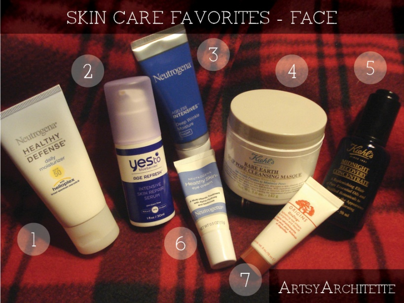 ArtsyArchitette 2012 Beauty Favorites Skin Care