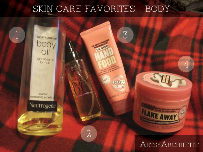 ArtsyArchitette 2012 Beauty Favorites Skin Care2