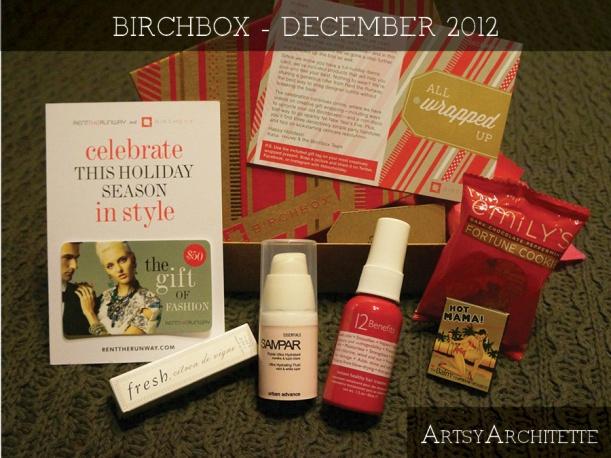 ArtsyArchitette Birchbox December 2012