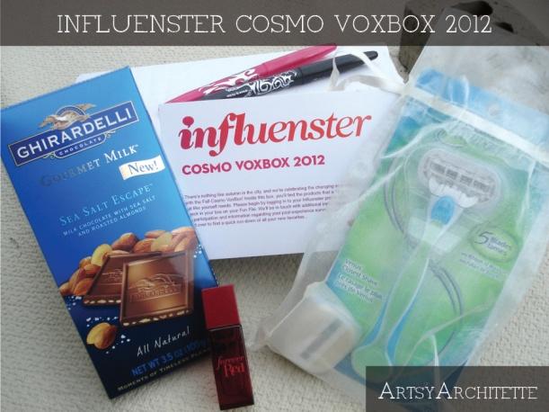 ArtsyArchitette Influenster Cosmo Voxbox 2012