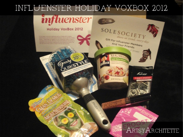 ArtsyArchitette Influenster holiday voxbox 2012