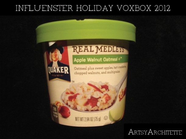 ArtsyArchitette Influenster holiday voxbox 20123