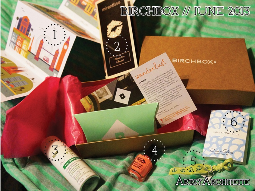 ArtsyArchitette Birchbox June 2013 Review