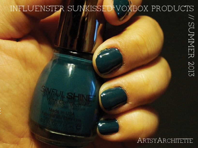 ArtsyArchitette Influenster Sunkissed VoxBox Products 2013 Review Sinful Colors Sinful Shine Set the Mood