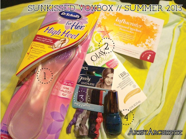 ArtsyArchitette Influenster Sunkissed VoxBox Summer 2013 Review
