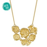 CURLED LEAF CLUSTER NECKLACE