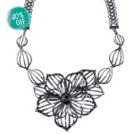 CUT OUT FLOWER + PETAL COLLAR NECKLACE