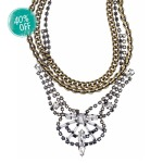 RHINESTONE + BOLD CHAIN DRAMA NECKLACE