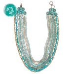 TURQ + PATINA MULTI-STRAND BIB NECKLACE